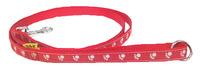 Vodítko textil tlapky 15mm/150cm červené