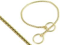 Obojek vystavovací hadí 20mm/25cm zlatý