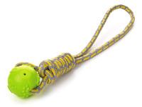 Přetahovadlo bavlna s pískacím míčkem zelené JK Animals