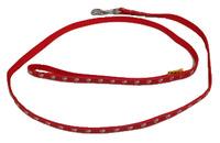 Vodítko textil tlapky 10mm/120cm červené