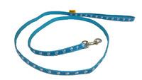 Vodítko textil tlapky 10mm/120m světle modré