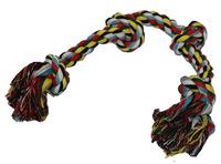 Uzel bavlna barevný 56cm 4 uzly