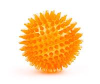 Míč s bodlinami 8cm oranžový JK Animals