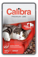 Calibra Cat 100g kapsa Premium Chicken&Beef