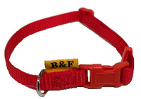 Obojek textil 10mm/20-35cm červený