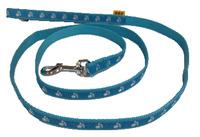 Vodítko textil tlapky 15mm/150cm světle modré