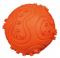 Míč tvrdá guma pískací 10cm
