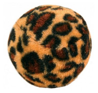 Míček tygrovaný se zvukem 4cm kočka