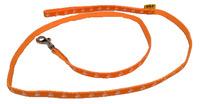 Vodítko textil tlapky 10mm/120cm oranžové