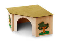 Domek rohový králík 27x27x15cm JK Animals