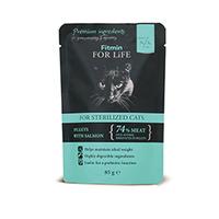 Fitmin for Life Cat 85g kapsička losos kastrované