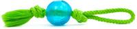 Míč+bavlněný uzel 9cm modrý