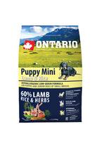 Ontario 2,25kg Puppy Mini Lamb&Rice