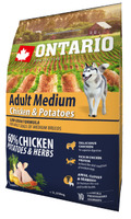 Ontario 2,25kg Adult Medium Chicken&Potatoes