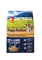 Ontario 2,25kg Puppy Medium Lamb&Rice