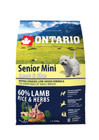Ontario 2,25kg Senior Mini Lamb&Rice