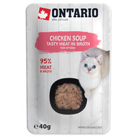 Ontario Cat Soup 40g Chicken with vegetables Kitten