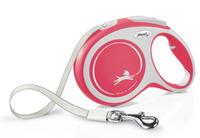 Vodítko Flexi Comfort L pásek 8m/50kg červené