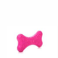 Kost TPR pískací 10cm růžová